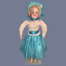 """Antique Simon & Halbig 570 Bisque Doll 22"""" Tall Beautiful  Dressed"""