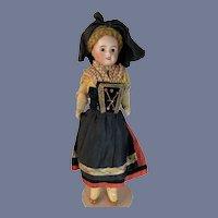 Antique French Bisque Doll All Original Clothing SFBJ 60 Unis Wonderful