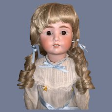 """Antique Bisque German Doll Gorgeous Face Dressed 26"""" Tall"""