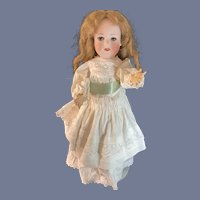 """Antique Bisque Doll Beautiful Clothes Undergarments 21 1/2"""" Tall Armand Marseille"""