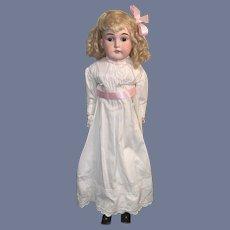 """Antique Doll Bisque Head Edmund Ulrich Steiner 27"""" Tall Beautiful AW"""