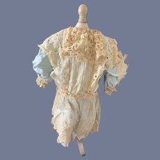 Old Doll Dress French Market Lace Drop Waist