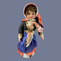 Antique French Bisque Doll Original Clothing Unis Factory Clothing