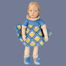 Old Lenci Cloth Doll Felt Painted Eyes Original Clothes