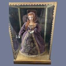 Wonderful Anne Boleyn Queen Of England Second Wife of Henry VIII in Glass Case WONDERFUL