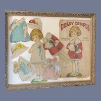 WONDERFUL Old Dolly Dimple Paper Doll Set Framed Wonderful W/ Original Packaging