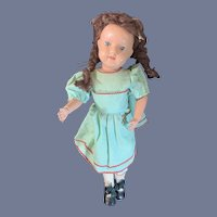 Antique Doll Schoenhut Wood Carved Jointed LARGE  Miss Dolly