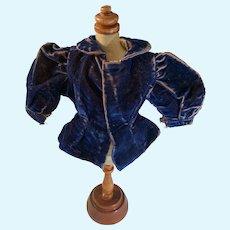 Antique Doll Velvet Fancy Jacket Fashion Doll Size