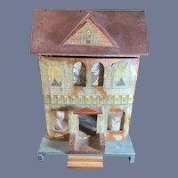 Antique Doll Dollhouse Bliss Litho & Wood TLC Charming Miniature