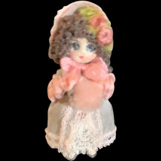 Wonderful Miniature Doll Dollhouse TINY Artist Doll BIG EYES
