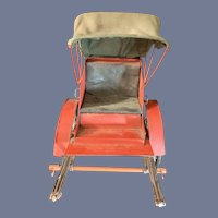 Old Doll Carriage Buggy Pram Rickshaw For Dolls Wonderful Mignonette Size