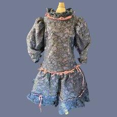 Wonderful Lace Doll Dress W/ Ribbons & Bows Sweet