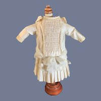Wonderful Doll Dress Bows on Shoulder French Market Drop Waist Fancy