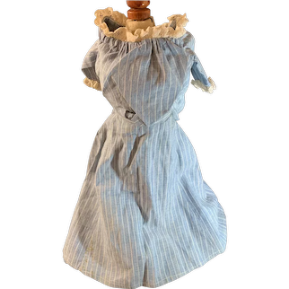 Old Pinstripe Doll Skirt and Top Lace Trim Charming