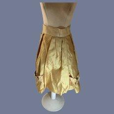 Old Silk Doll Skirt Fashion Doll French Market Drop Bows