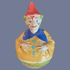 Antique Petite Size Roly Poly Schoenhut Clown Doll Toy
