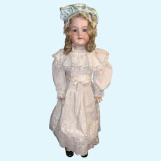 """Antique Doll Large Bisque Head Armand Marseille  29"""" Tall Heinrich Handwerck Stamped Wood and Composition Body"""