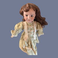 Antique French Doll Bisque Head SFBJ French Doll W/ Pull Strings Crier Pierced Ears Petite Size