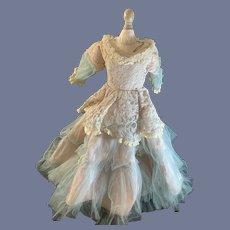 Wonderful Doll Lace Netting Satin Dress Sweet