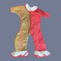 Sweet Vintage Doll Bear Jester Clown Outfit