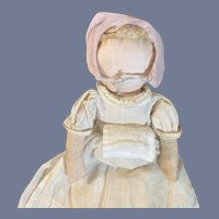 Wonderful Old Cloth Doll  No Face Cotton Hair Sweet Doll Original Clothes