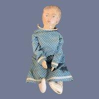 Wonderful Oil Cloth Artist Doll Sweet Nicely Dressed