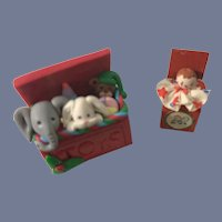 Wonderful Artist Miniature Dollhouse Toy Box Filled and Jack in the box Doll Toys