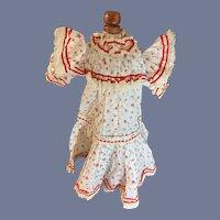 Vintage Doll Dress Drop Waist Floral Lace Trim French Market