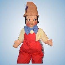 Vintage Doll Cloth Pinocchio Wonderful A real Boy