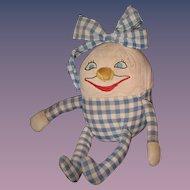 Old Doll Cloth Humpty Dumpty Rag Doll Adorable
