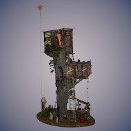 Vintage Doll Dollhouse Miniature Tree house Miniature SALE SALE