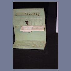 Old Doll Miniature Tin Metal Dollhouse Sink