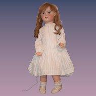 "Large 32"" Antique Doll French Bisque TeTe Jumeau BIG Fancy size 15"