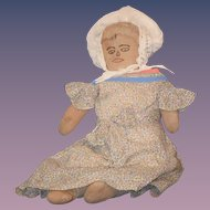 Antique Doll Cloth Rag Folk Art Rare Unusual
