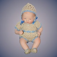 Vintage Doll Artist Baby Bisque Miniature Doll