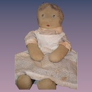Antique Doll Cloth Rag Folk Art Primitive Unusual