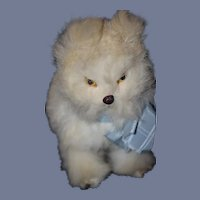 Antique Doll Dog For Fashion Doll Fur Mechanical Wind Up