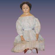 Antique Doll Papier Mache M&S Superior W/ Original Tag