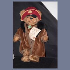 Vintage Hermann Teddy Bear Pirate Mr. Drosselmeyer W/ Tags