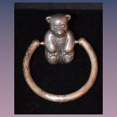 Vintage Sterling Teddy Bear Teething Ring Tiffany & Co.