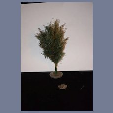 Old Doll Feather Tree Miniature Dollhouse Christmas Tree