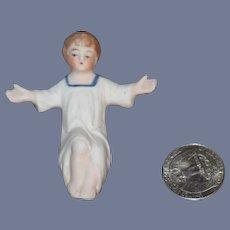 Old Doll Bisque Miniature Dollhouse Baby Nativity Wonderful German