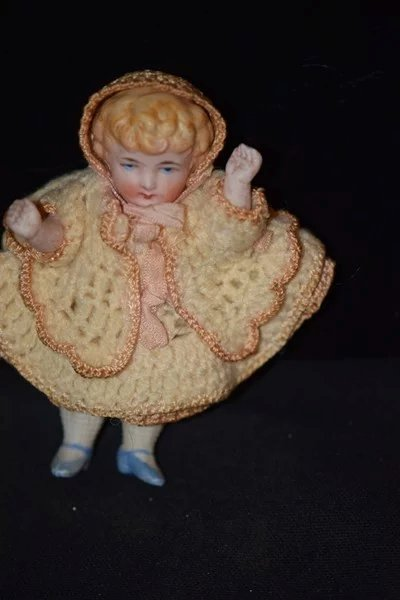 Antique Doll Miniature China Head Boy And Girl Dollhouse