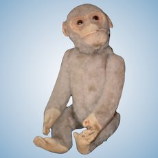 Antique Doll Toy Monkey YES NO Mechanical Large Mohair Adorable Schuco Steiff
