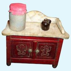 Antique Miniature Crock and Jug Pottery Doll House Dollhouse Salt Glaze