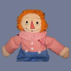 Old Raggedy Andy Cloth Doll Rag Doll Sweet