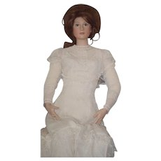 "SALE SALE Vintage Doll Bisque Miss Jennifer By Vicki Artist Doll Mannequin Size Gorgeous Unusual FAB Clothes and Lace Boots LARGE Realistic 60"" Tall"