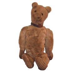 Antique Bear Mohair Shoe Button Eyes Jointed WONDERFUL Teddy Bear