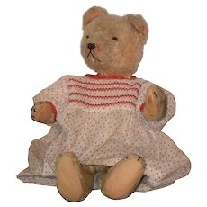 Antique Teddy Bear Doll Friend Hump Back Mohair Jointed
