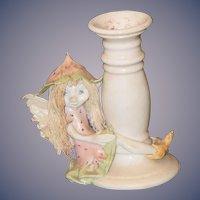 Vintage Doll Fairy Fortune Fairies Originals By Karen Candlestick Wonderful Fairy doll Figure Pottery Porcelain